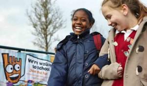 Walking can be fun. Walk to School week is organised by Living Streets
